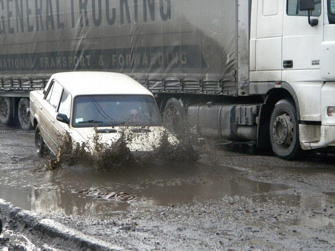 машина, грязь