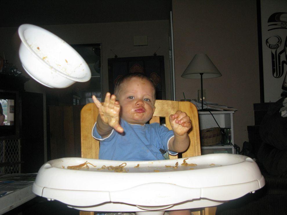 малыш, тарелка, полет