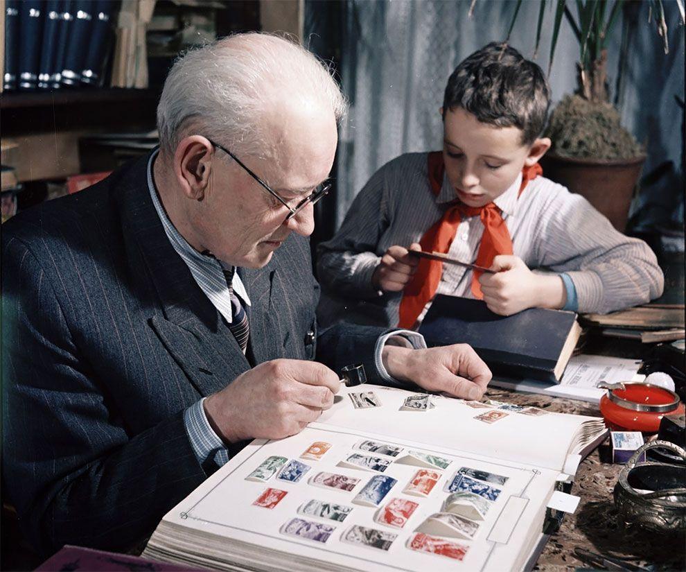 марки, дед, внук