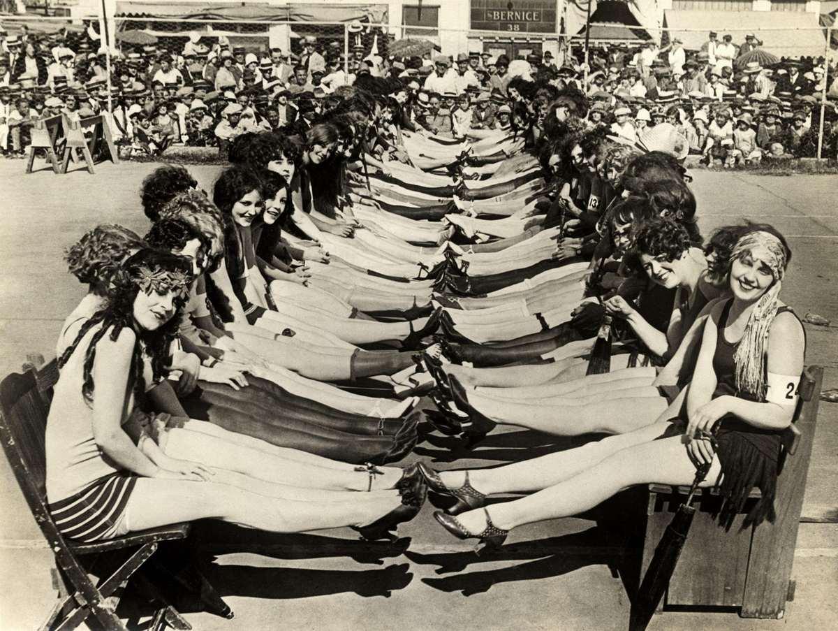 конкурс, женщины, ноги