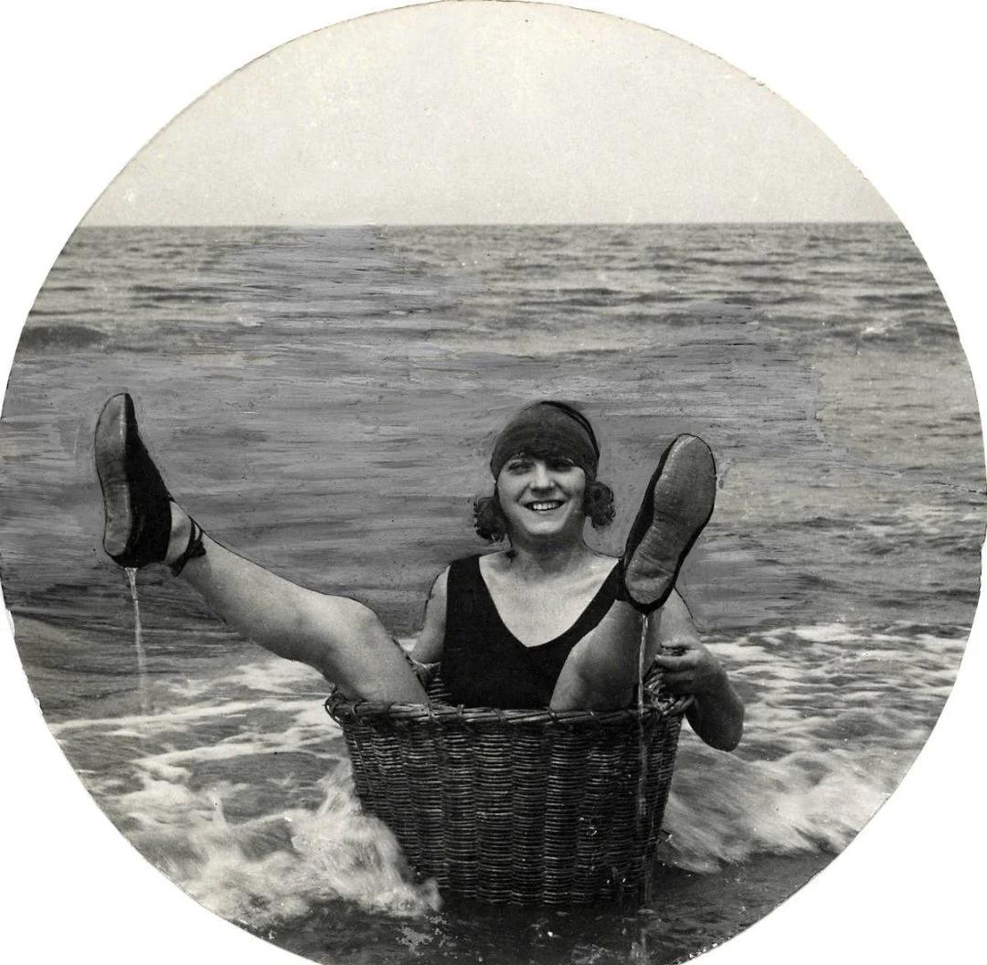 купальник, дама, ноги