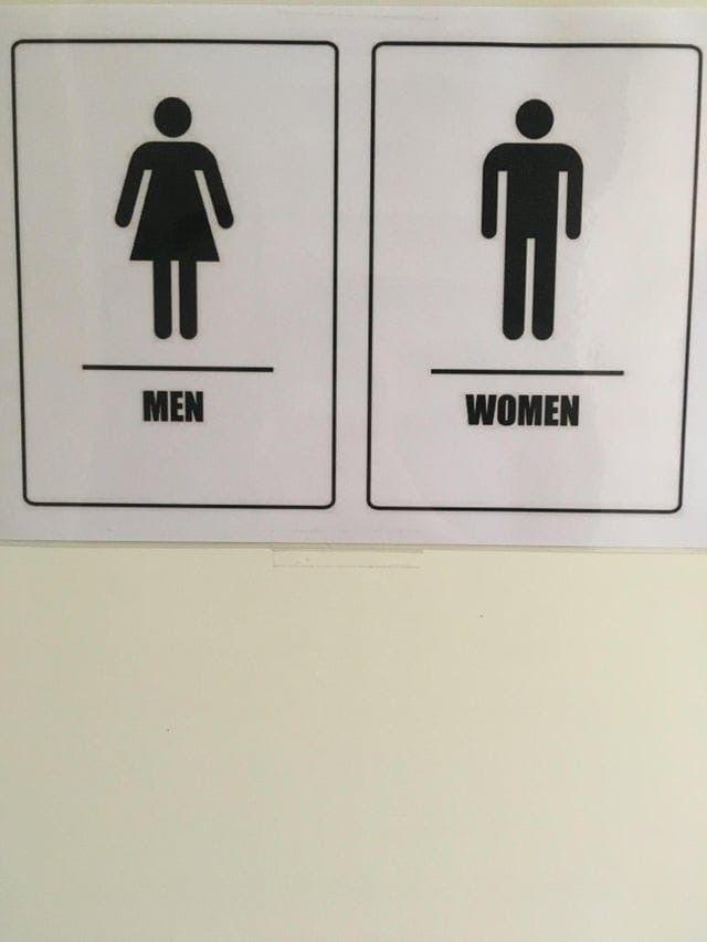 туалет, табличка