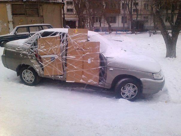 автомобиль, двери, картон