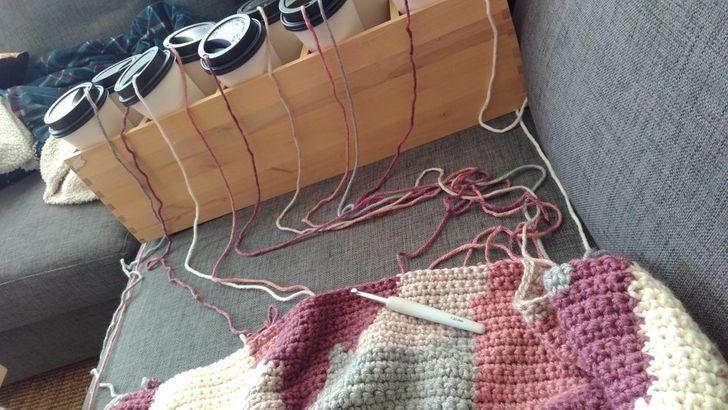 нитки, вязание