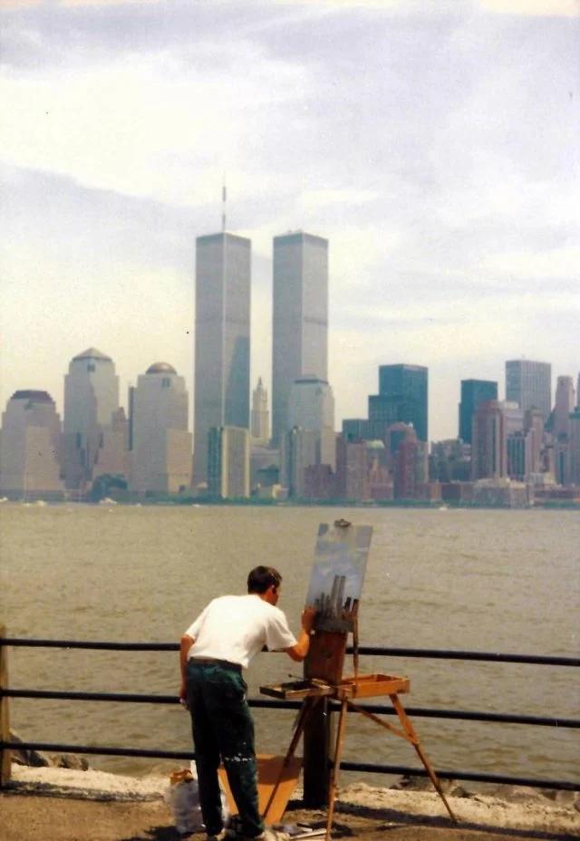 художник, башни, рисунок