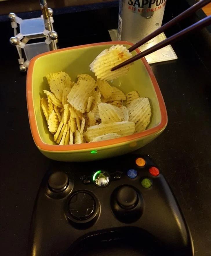 чипсы, еда, палочки