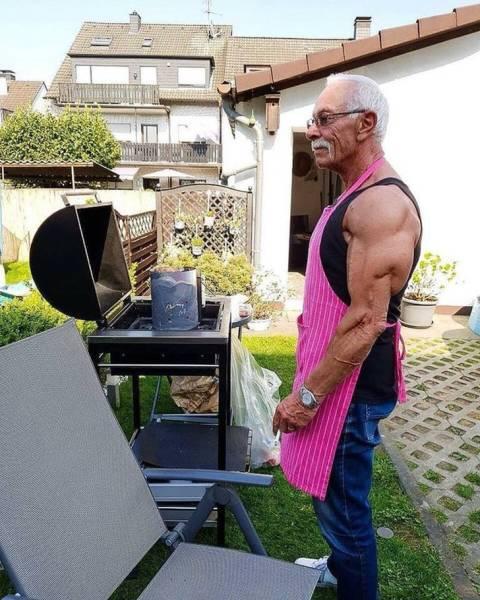 дедушка, повар, готовка