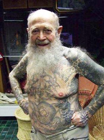 старик, татуировки