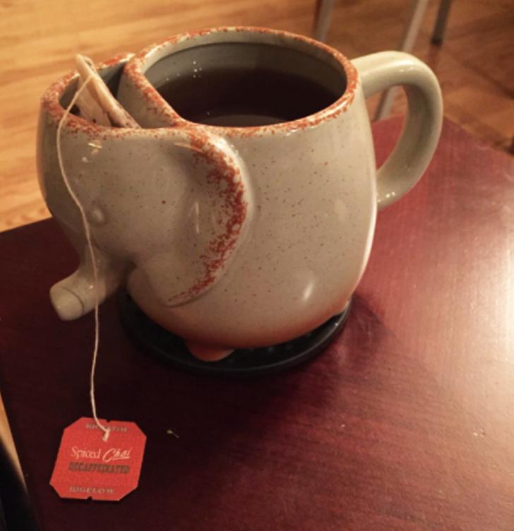 чашка, чай, пакетик