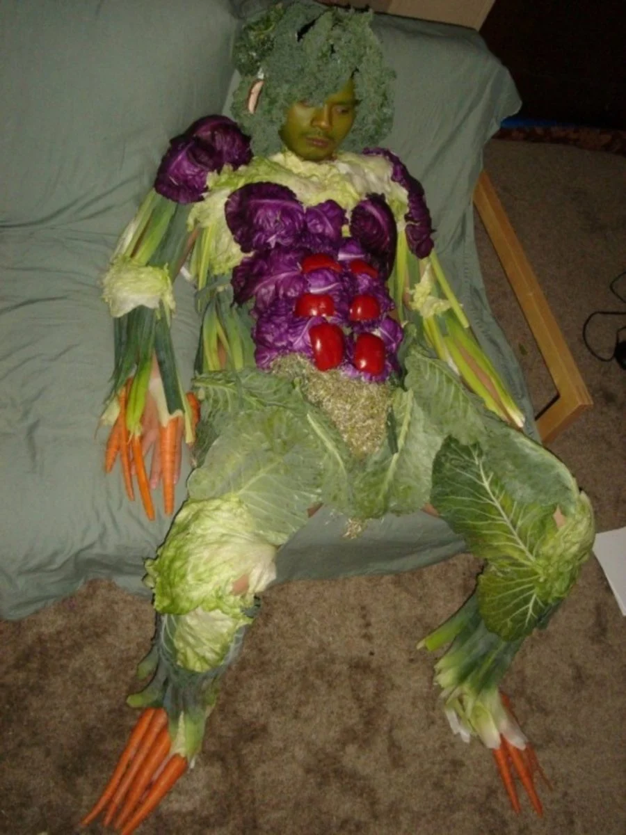 мужчина, овощи