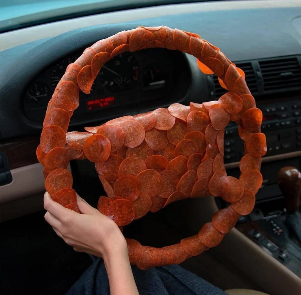 руль, колбаса