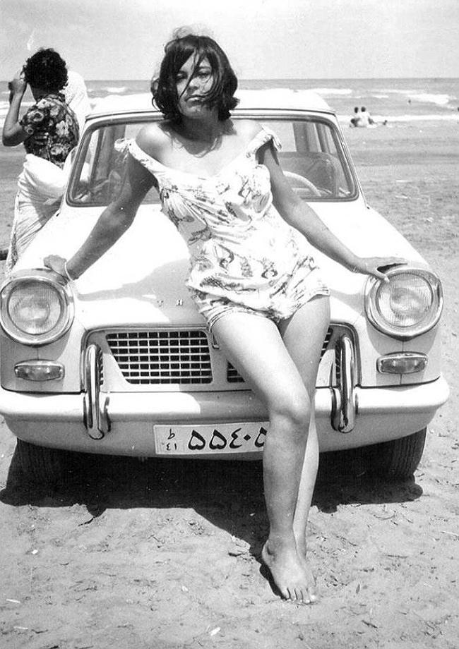 женщина, машина