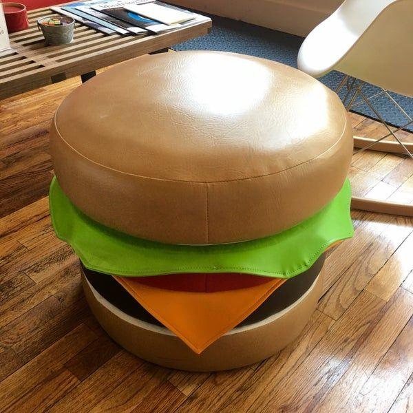 пуф, дизайн, гамбургер