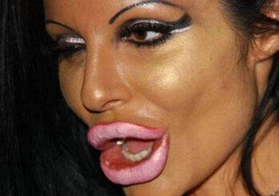 макияж, губы, женщина