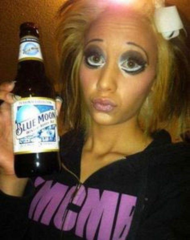 макияж, девушка