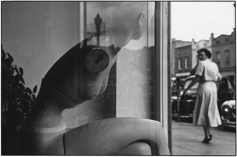 манекен, витрина, женщина
