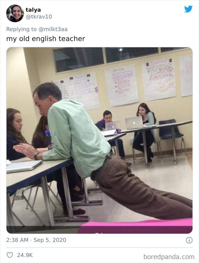 учитель, поза