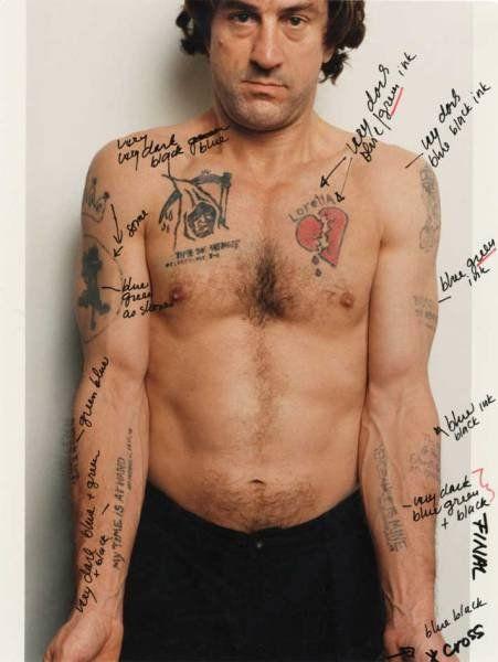 де Ниро, татуировки, заметки, тело