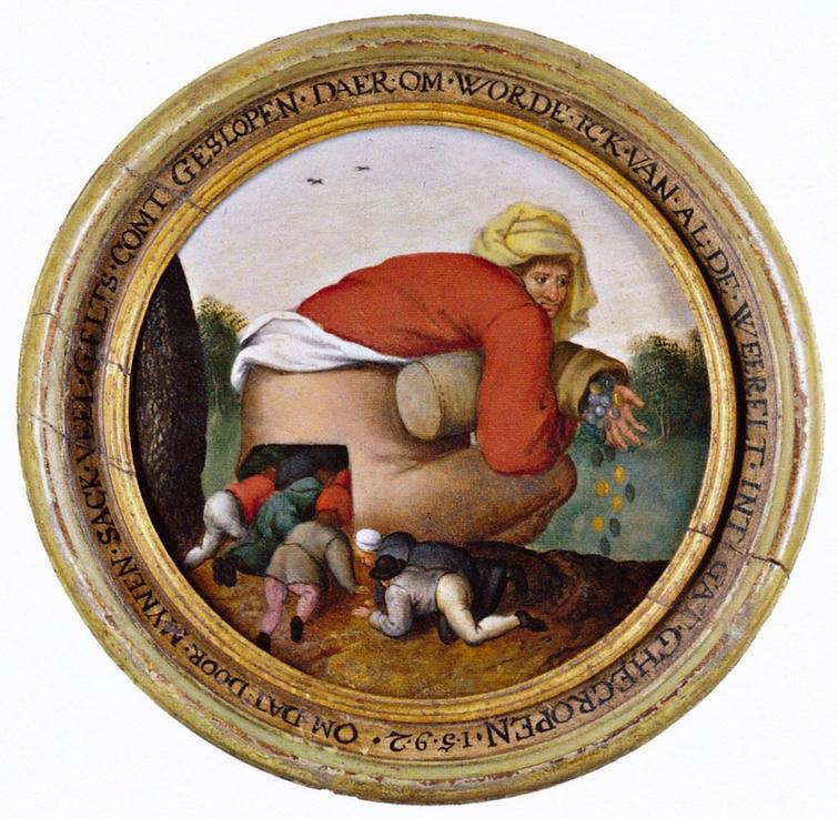 """Льстецы"" картина нидерландского живописца Брейгеля"