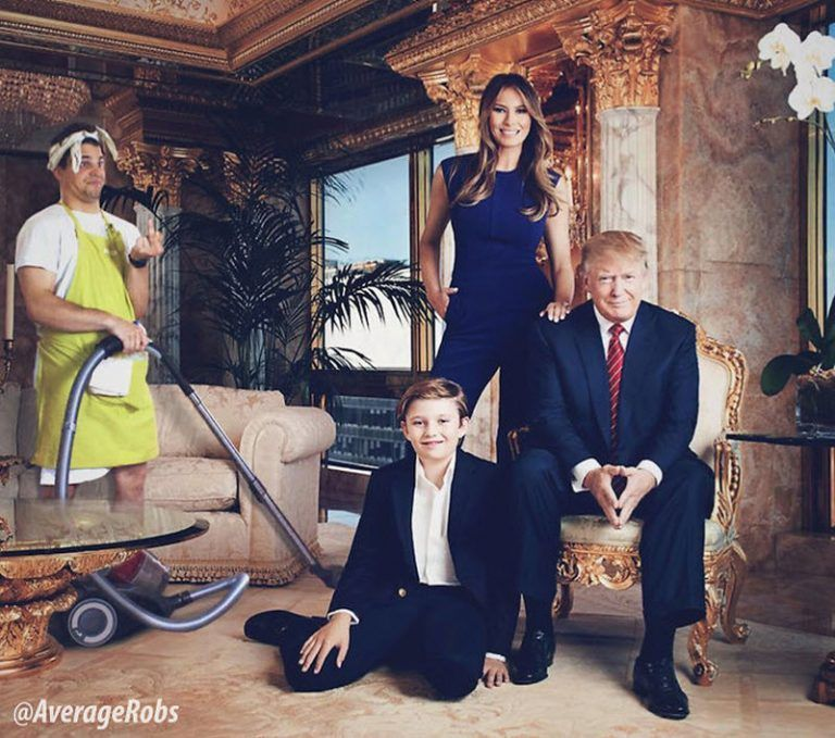 Трамп, семья, фотошоп, парень