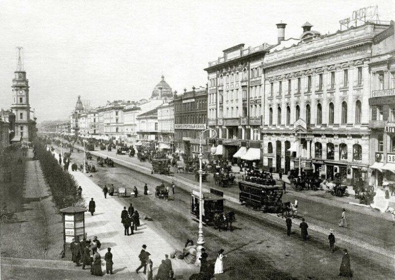 Невский проспект более века назад  / Фото:©mixnews.lv