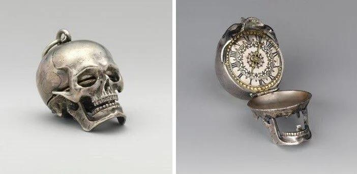часы, череп