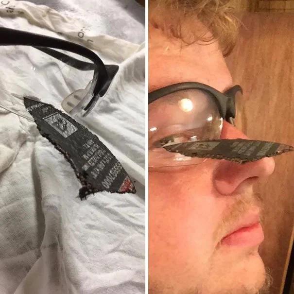очки, болгарка, диск