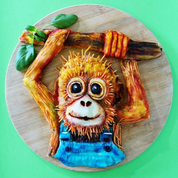 еда, обезьяна