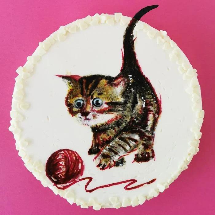 еда, кот
