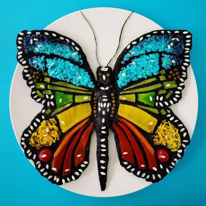 бабочка, еда