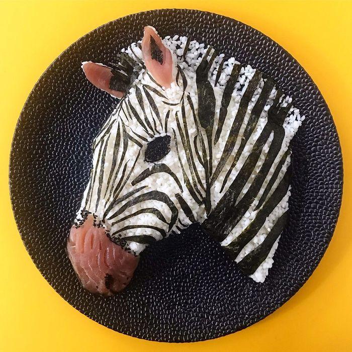 еда, зебра