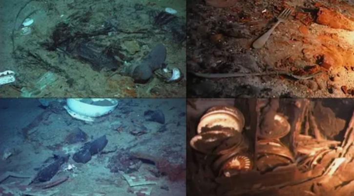 Затонувшая утварь, которая была на Титанике