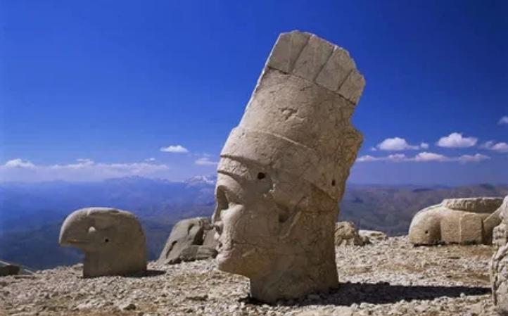 голова, статуя, гора