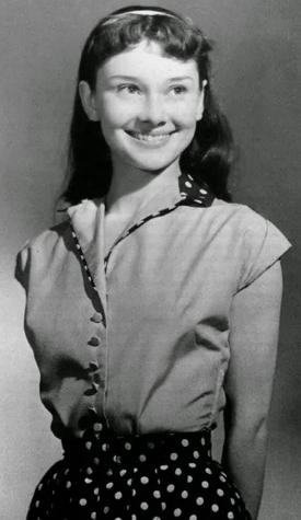 Хепберн, фото, юность