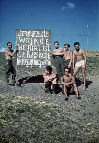 фото, немцы, плакат
