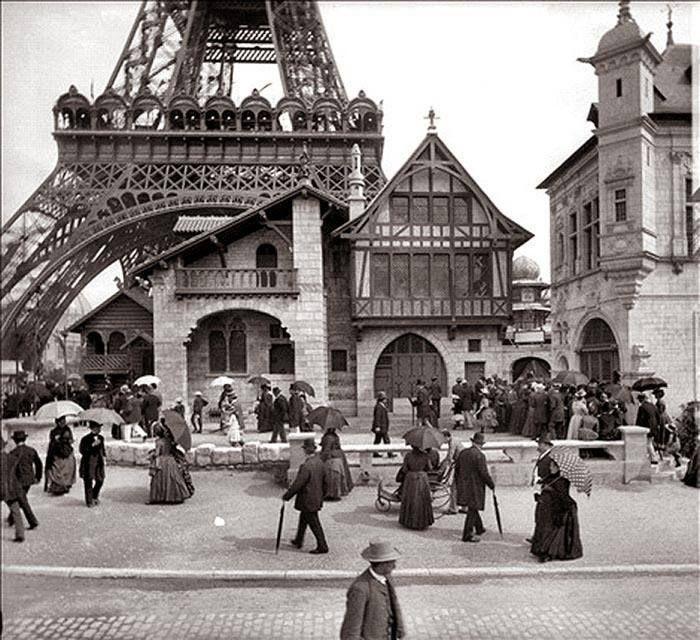 башня, Париж, люди