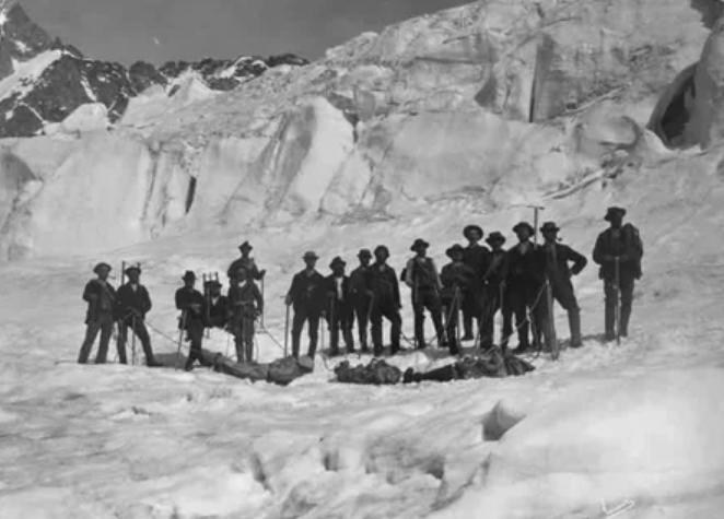альпинисты, фото, гора