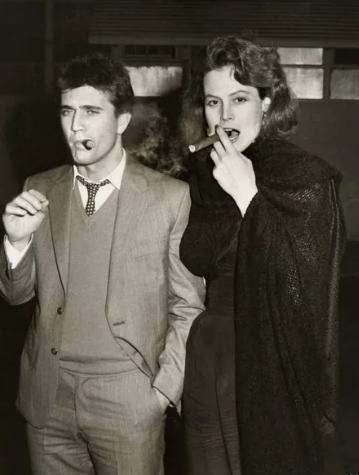 Мел Гибсон и Сигурни Уивер, 1983 год