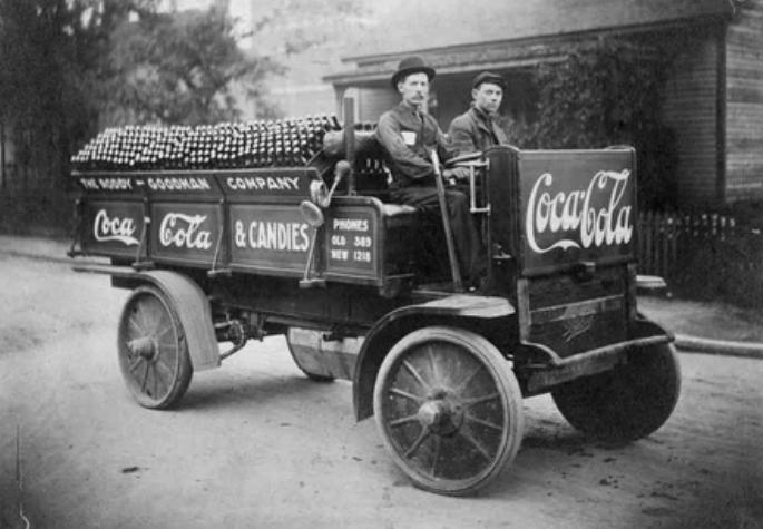 Поставка Coca-Cola в 1909 году
