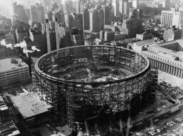 Строительство Мэдисон-сквер-гардена в Нью-Йорке