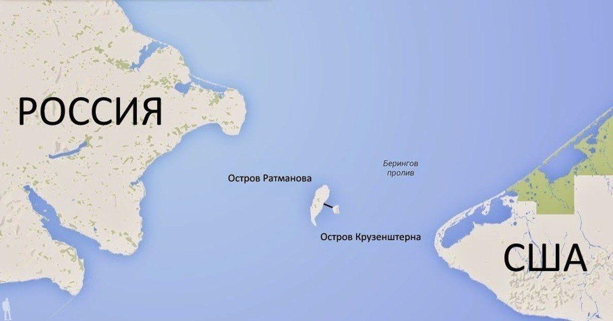 остров, Россия, США