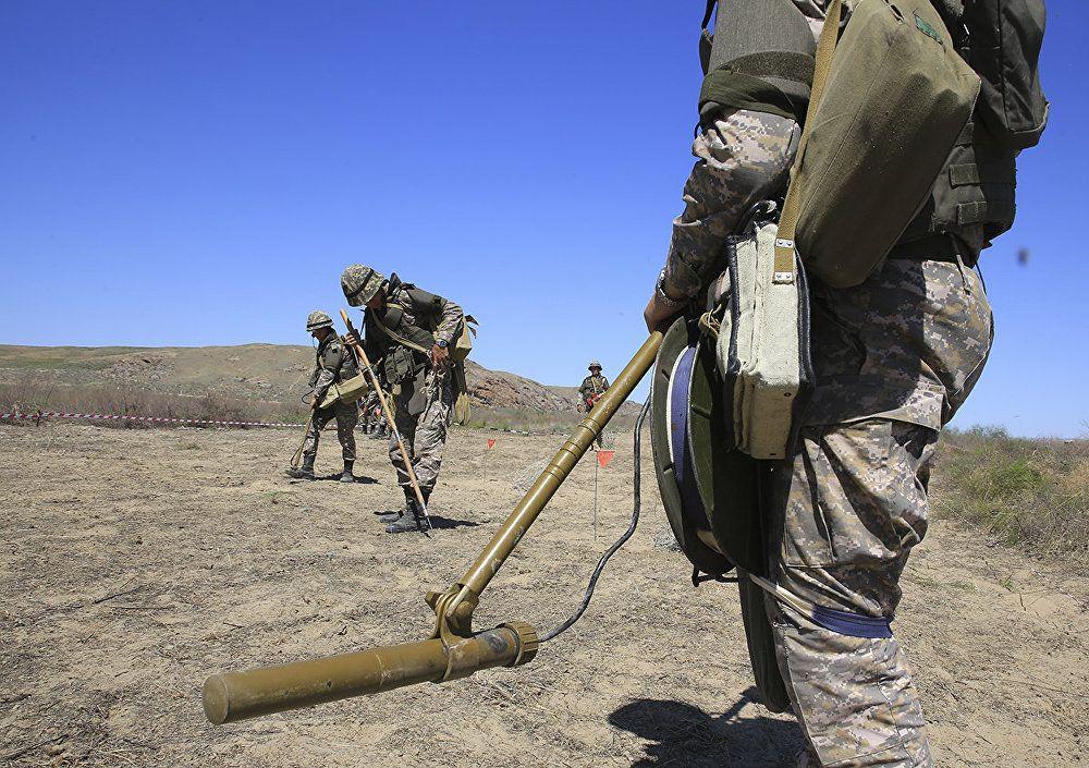 сапер, мина, поиск, работа, военные