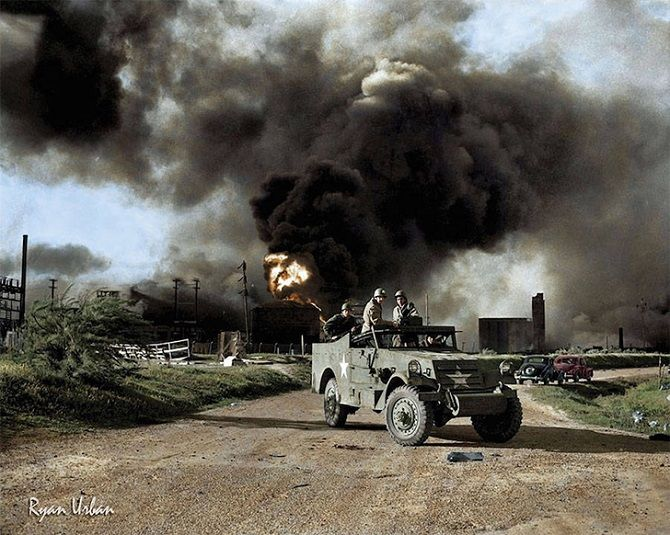 взрыв, военные, огонь