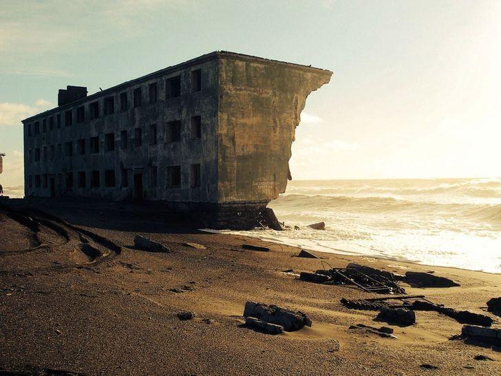 дом, море