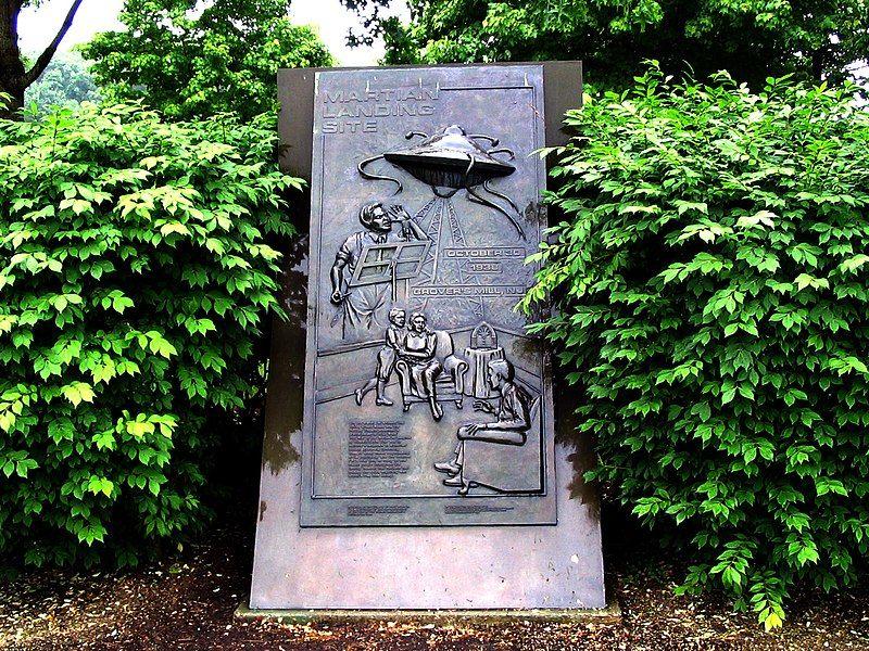 памятник, марсиане, атака, США
