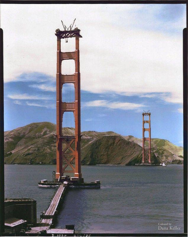 мост, стройка