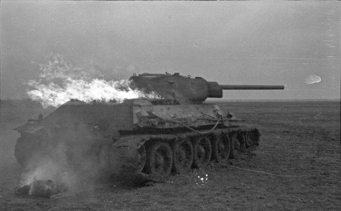 танк, пожар, огонь