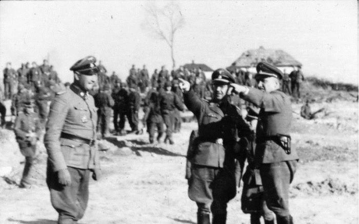 немцы, офицеры