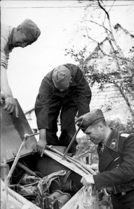 танкист, механик, немцы