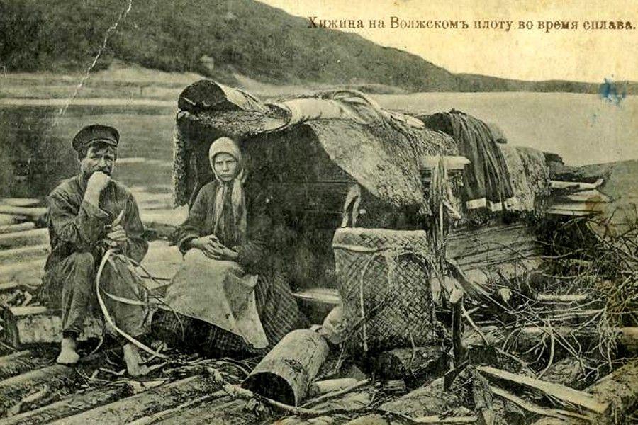 Волга, сплав, хижина, лес